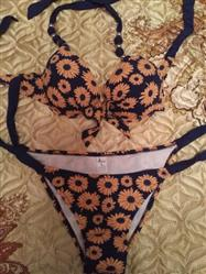 E***a verified customer review of Erasme Beaded Strap Halter Top Bikini Set