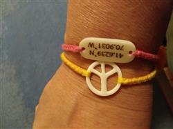 Ellen M. verified customer review of Peace Sign Bracelet