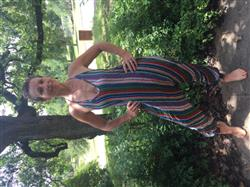 Angela M. verified customer review of Striped Harem Jumpsuit By Buddha Pants®