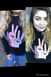 Stephanie O. verified customer review of Peace Out Pullover