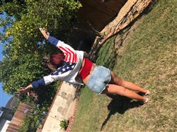 Jessica K. verified customer review of American Flag Windbreaker Jacket