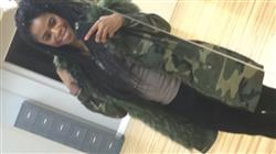 Natalie C. verified customer review of Ridley Camo Coat
