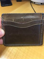 Christopher Fiscella verified customer review of Driftwood Flat Wallet
