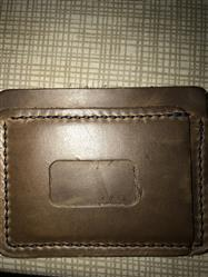 John Ramirez verified customer review of Driftwood Flat Wallet