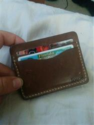 Josue Gonzalez verified customer review of Driftwood Flat Wallet