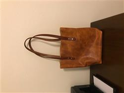 Collin K. verified customer review of Driftwood Leather Tote