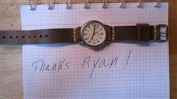 louis d. verified customer review of Driftwood Leather Watch Strap