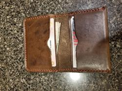 adam g. verified customer review of THICK Driftwood 5 Card Leather Wallet