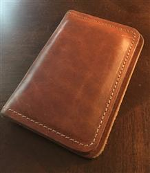 David D. verified customer review of Cavalry English Tan Leather Business Card Holder