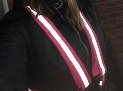 Sarah B. verified customer review of High Visibility Reflective Vest, Sash, for Running & Cycling