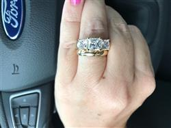 Anonymous verified customer review of Cubic Zirconia Engagement Ring- The Clara (3 TCW 3-Stone Princess Cut)