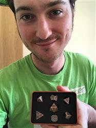 Gabriel  verified customer review of Paladin Roleplaying Antique Bronze Metal Dice Set, In Presentation Tin