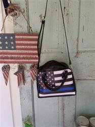 Judy B. verified customer review of Thin Blue Line American Flag Shoulder Bag