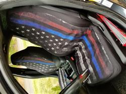 Tiffany W. verified customer review of Tattered Thin Blue And Red Line Flag Car Seat Covers (Set Of 2)