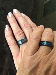 Adam S. verified customer review of Thin Blue Line Blue Celtic Inlay Ring With Dragon Black Edges