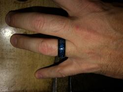 J M. verified customer review of Thin Blue Line Blue Celtic Inlay Ring With Dragon Black Edges