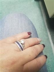 Tammy H. verified customer review of Stunning 10Kt White Gold Filled Diamond Simulated Sapphire Ring