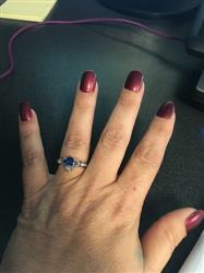 Dawn C. verified customer review of Sterling Silver Claddagh Blue Heart Ring
