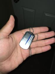 James.V B. verified customer review of Thin Blue Line American Flag Dog Tag