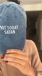 Corinne verified customer review of Not Today Satan Dad Hat