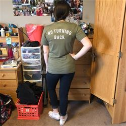 Alexis I. verified customer review of No Turning Back Unisex Tee