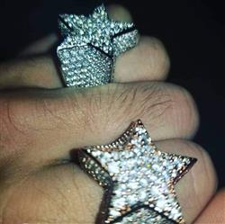 verified customer review of White Gold Iced Out Star Ring