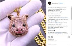 verified customer review of [2 Days Left Best for Her]14K Gold Iced Pig Face Emoji