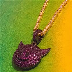 Mr.piguett verified customer review of Purple Iced Out Devil Emoji Necklace
