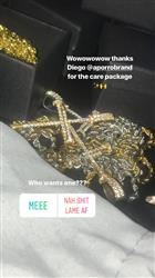 verified customer review of 14K Gold Iced Out Nail Cross