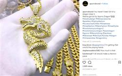 verified customer review of 14K Gold Iced Out Dragon