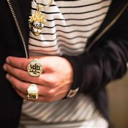 verified customer review of [New Arrival] 14K Gold Iced Out Cartoon Wu Ring