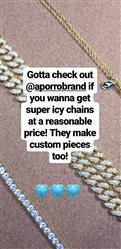 tobin_kelsey verified customer review of 12mm 14K Gold Iced Out Children Cuban Link Chain