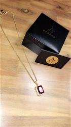 verified customer review of 14K Gold Iced Out Cube Ruby Pendant