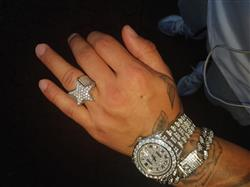 Patrick S. verified customer review of White Gold Iced Out Star Ring