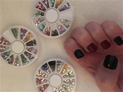 Jodi F. verified customer review of 500pc Mixed Colors Acrylic Nail Art 3 Wheel Sets
