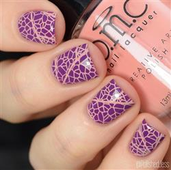 Jessica J. verified customer review of Perennials Collection: Restless Dahlia (B232) - Salmon Pink Cream Creative Art Stamping Polish