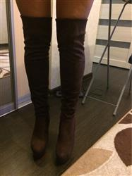 Mary Jenkins verified customer review of Sexy Square Heel Over The Knee Boots
