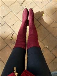 Khadijah Sarkis verified customer review of Low Square Heel Over The Knee Boots