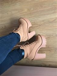 Audrey R. Grant verified customer review of Lace Up Platform Ankle Boots