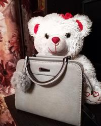 Roberta Boatwright verified customer review of Casual Small Leather Handbag With Cute Pompom