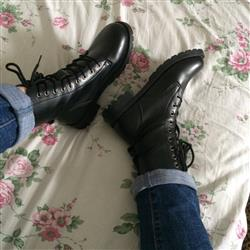 Rachel Ellis verified customer review of Lace-Up Belts Gothic Boots