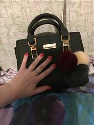 Caroline Cantin verified customer review of Leather Purse With Pompoms Keychain