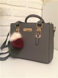Gia Vandyke verified customer review of Leather Purse With Pompoms Keychain