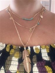 Alicia Patterson verified customer review of Multi-Chain Feather Long Necklace
