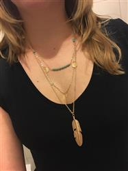 Grace Bunning verified customer review of Multi-Chain Feather Long Necklace