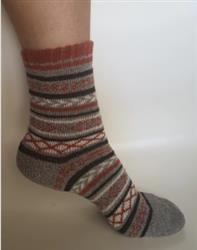 Frances Jacobson verified customer review of Cozy Striped Christmas Socks - Fuzzy Winter Wool Socks Set