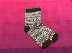 Camille E. Larson verified customer review of Cozy Striped Christmas Socks - Fuzzy Winter Wool Socks Set