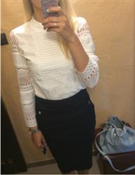 Anita D. Jorgensen verified customer review of Emma™ - White Lace Long Sleeved Blouse