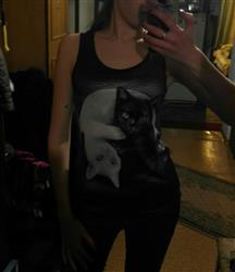 Lika Belova verified customer review of Yin Yang Cat Women Tank Top