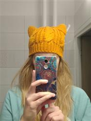Corina Biermans verified customer review of Hand Knitted Cat Ear Beanie